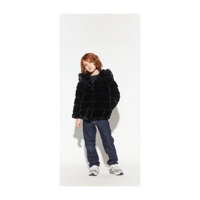 Goldie Faux Fur Jacket, Noir