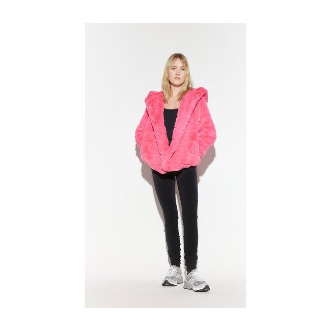 Women's Goldie Faux Fur Jacket, Bubble Pink