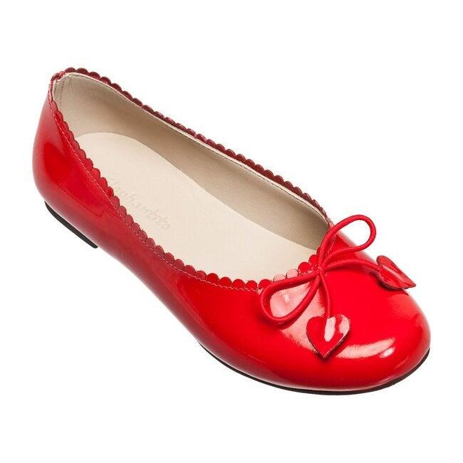 Scalloped Ballerina, Patent Red
