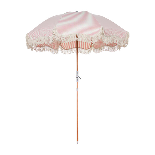 Premium Beach Umbrella, Lauren's Pink Stripe