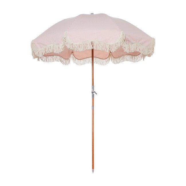 Premium Beach Umbrella, Lauren's Pink Stripe - Outdoor Home - 1