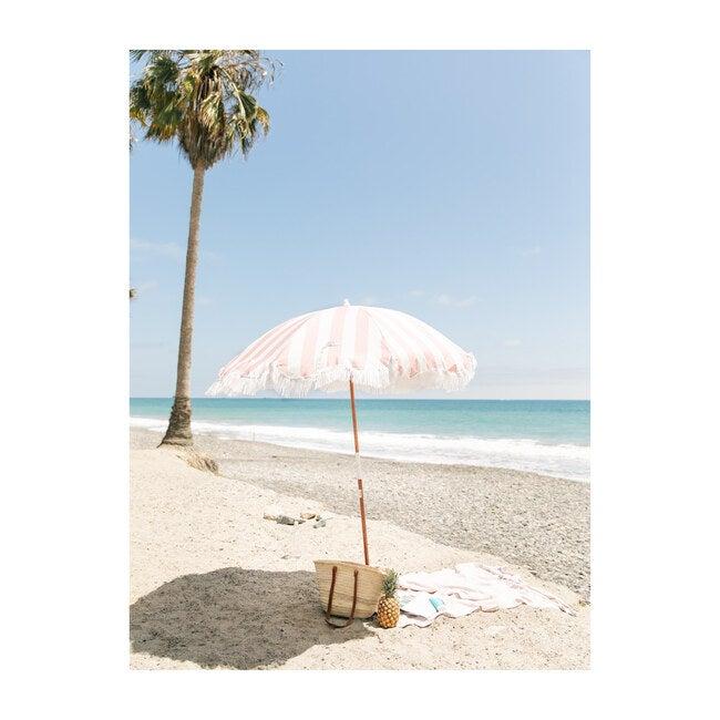 Holiday Lightweight Beach Umbrella, Crew Pink Stripe