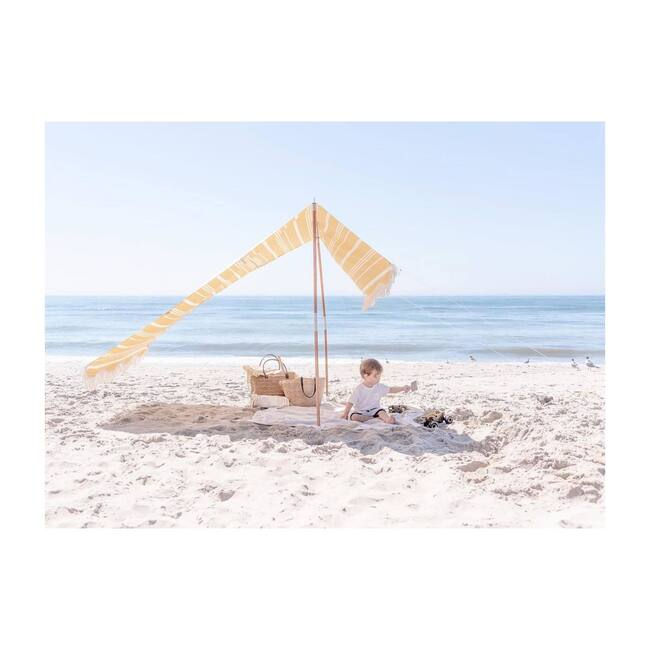 Premium Beach Tent, Vintage Yellow Stripe