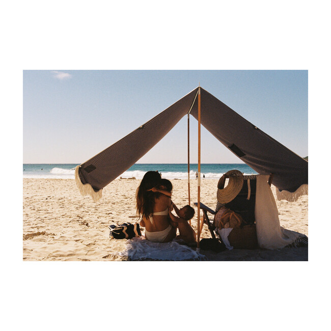 Premium Beach Tent, Lauren's Navy Stripe