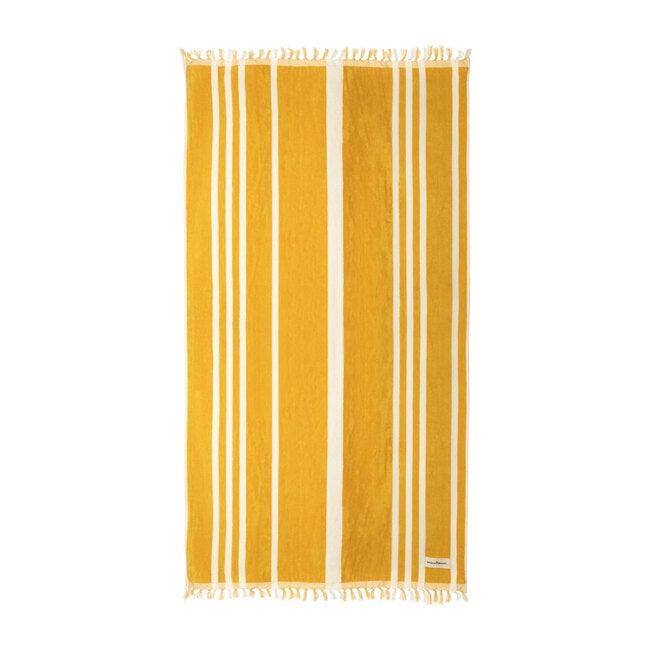 The Beach Towel, Vintage Yellow Stripe