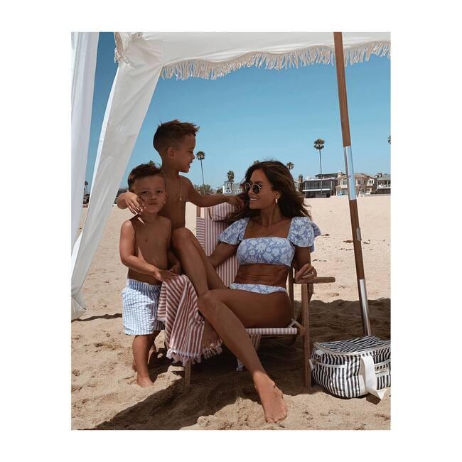 The Beach Towel, Lauren's Pink Stripe