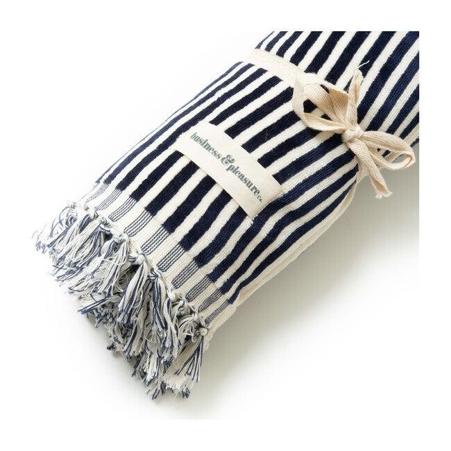The Beach Towel, Lauren's Navy Stripe