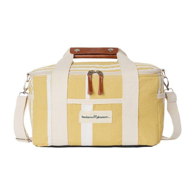 Premium Cooler, Vintage Yellow Stripe
