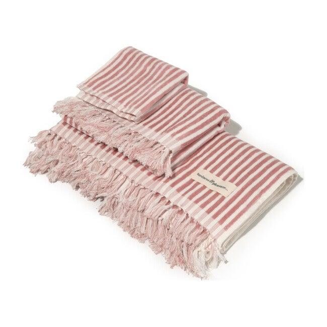 Bath Set, Lauren's Pink Stripe