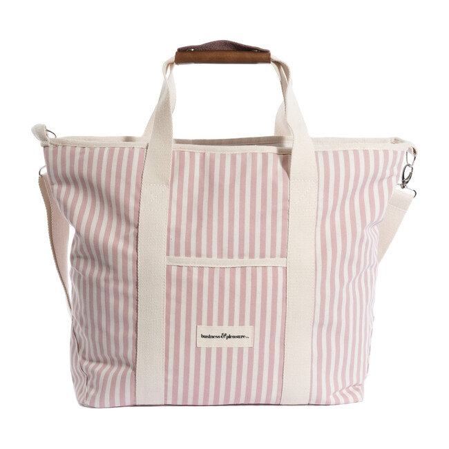 Cooler Tote Bag, Lauren's Pink Stripe - Outdoor Home - 1