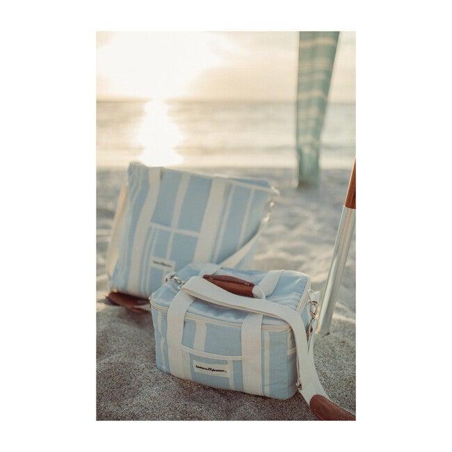 Cooler Tote Bag, Vintage Blue Stripe
