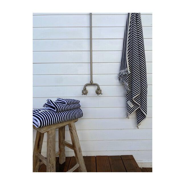 Bath Set, Lauren's Navy Stripe