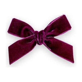 Velvet Bow Clip, Plum