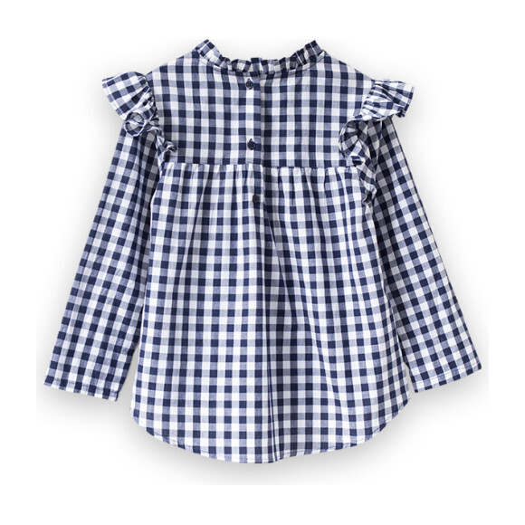 Max Top, Navy Gingham