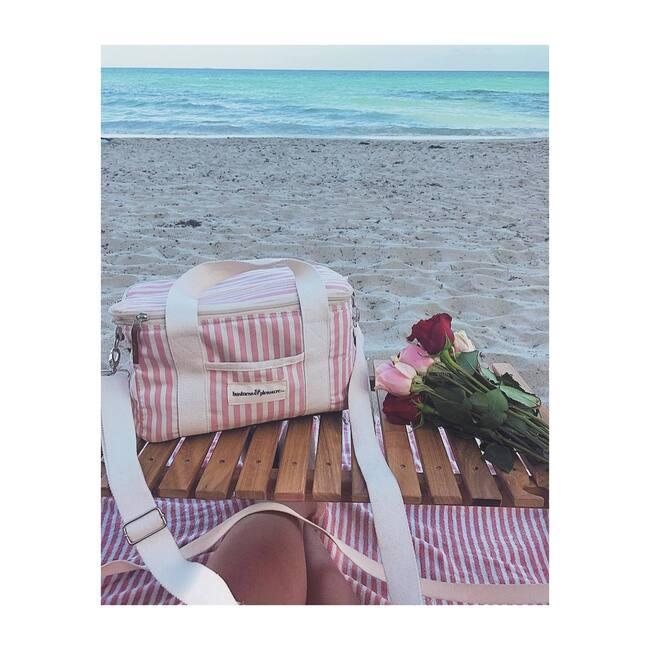 Premium Cooler, Lauren's Pink Stripe