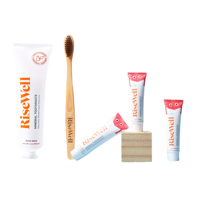 Adult Duo + Kids Travel Toothpaste Trio