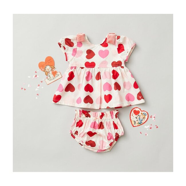 Erin Two Piece Set, Scalloped Hearts