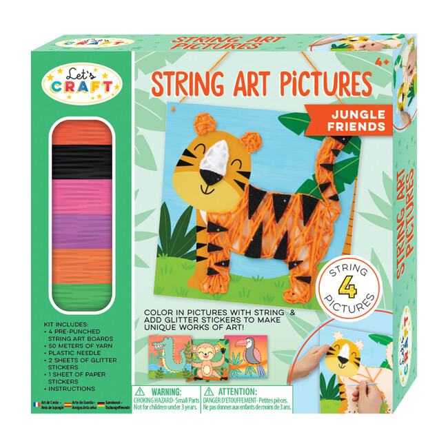 String Art Pictures, Jungle Friends - Arts & Crafts - 1
