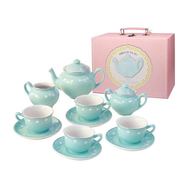 Porcelain Tea Set, Mint