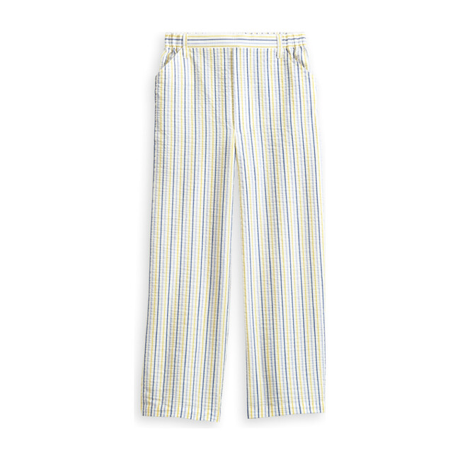Faux Zip Pant, Sunny Seerstucker Stripe