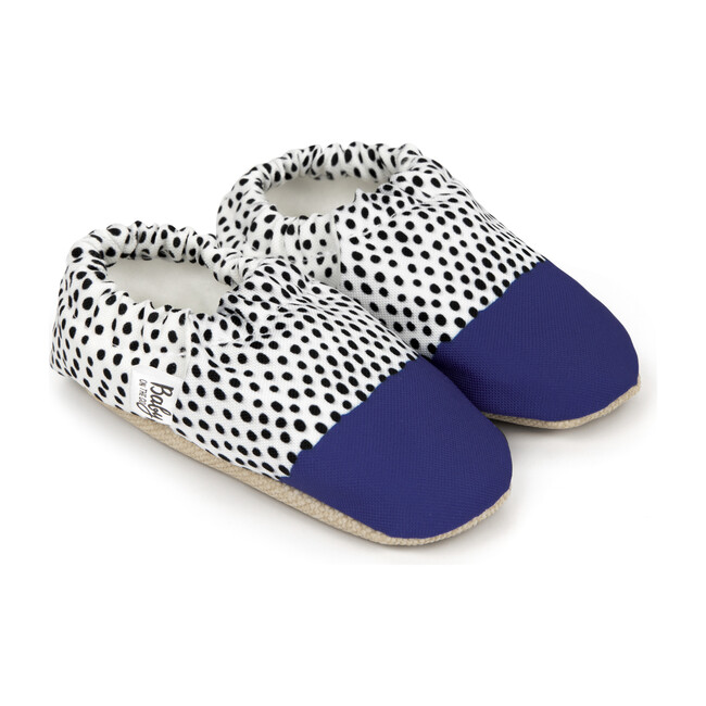 First Steps Slip-On, Polka Blue