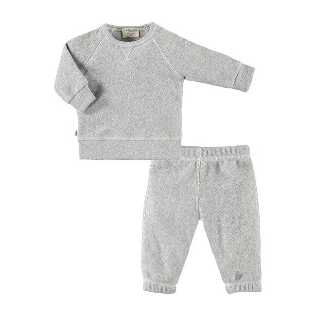 Baby Peace & Love Loungewear Set, Heather Grey