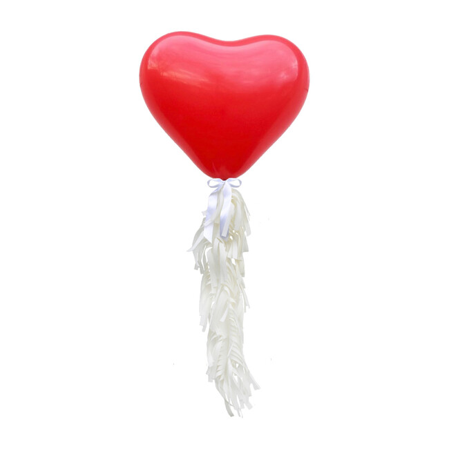 Jumbo Heart Balloon Kit, Red