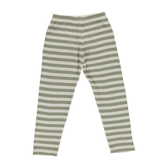 Vintage Legging, Green Stripe