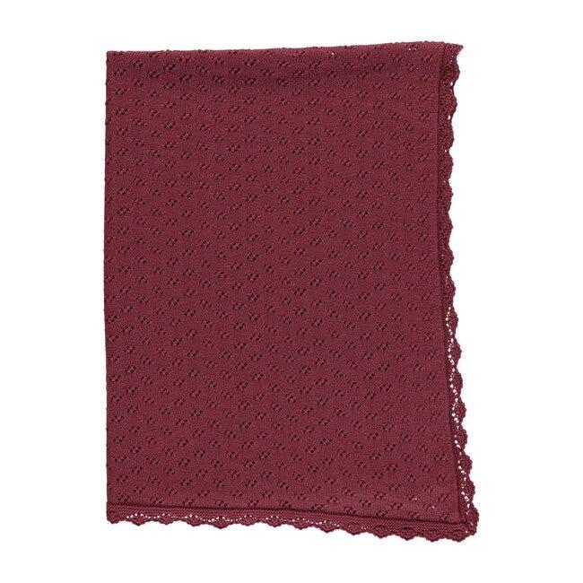 Ida Blanket, Burgundy Knit
