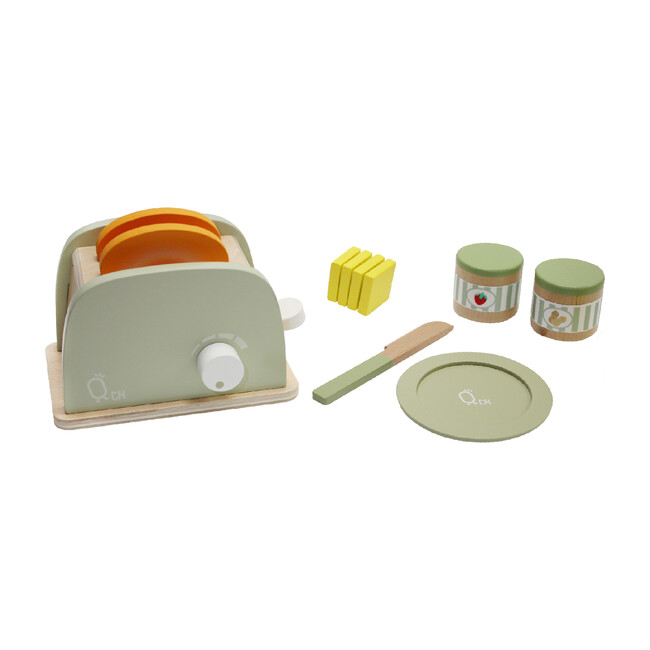 Little Chef Frankfurt Wooden Mixer Set with Accessories, Natural/Green