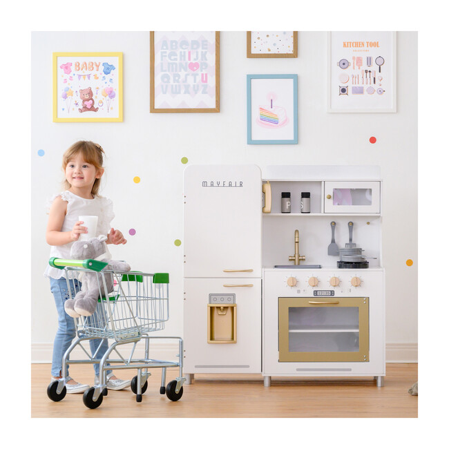 Little Chef Mayfair Retro Play Kitchen, White