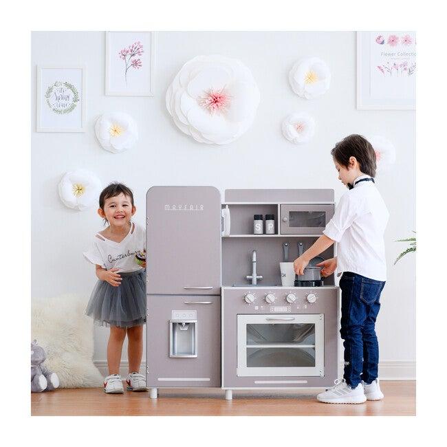 Little Chef Mayfair Retro Play Kitchen, Grey