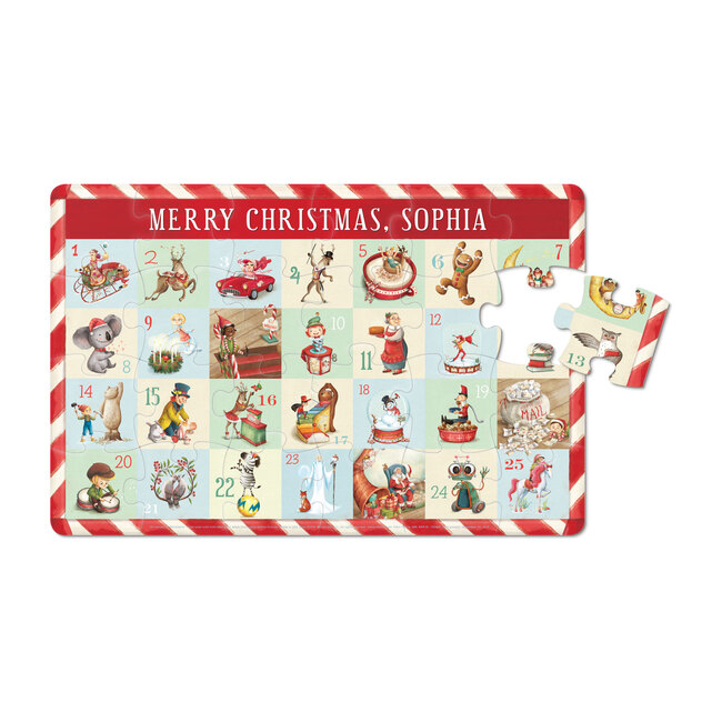 Countdown to Christmas 24-Piece Puzzle, Child's Name