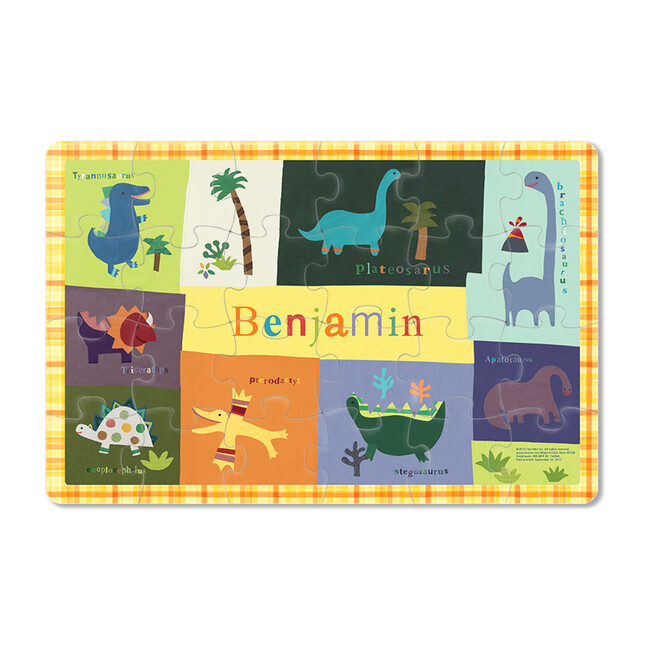 Dinosaurs 24-Piece Personalized Puzzle