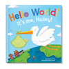 Hello World! Personalized Baby Book, Blue