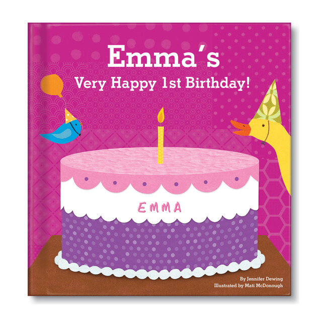 My Very Happy Birthday Personalized Board Book, Girl