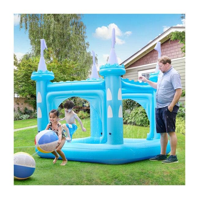 Water Fun Castle Inflatable Kiddie Pool, Blue