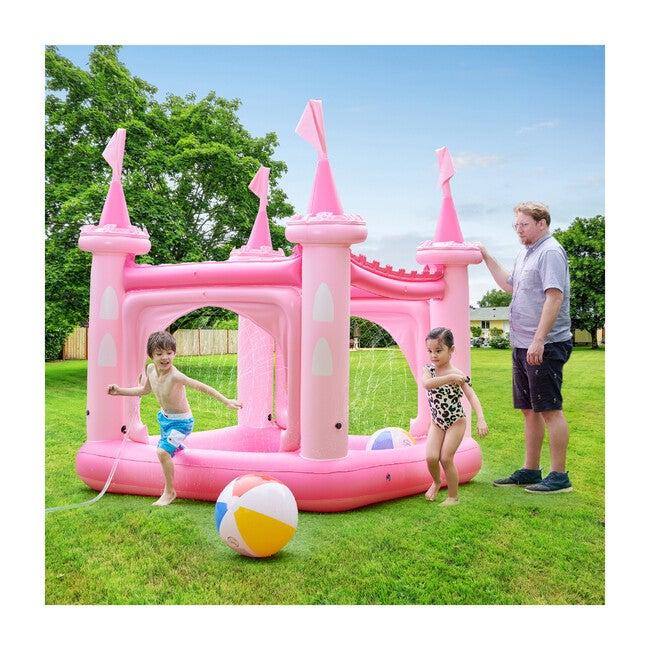 Water Fun Castle Inflatable Kiddie Pool, Pink