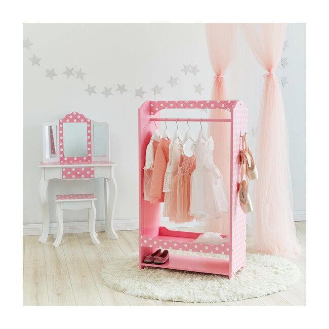 Polka Dot Bella Toy Dress Up Unit, Pink/White