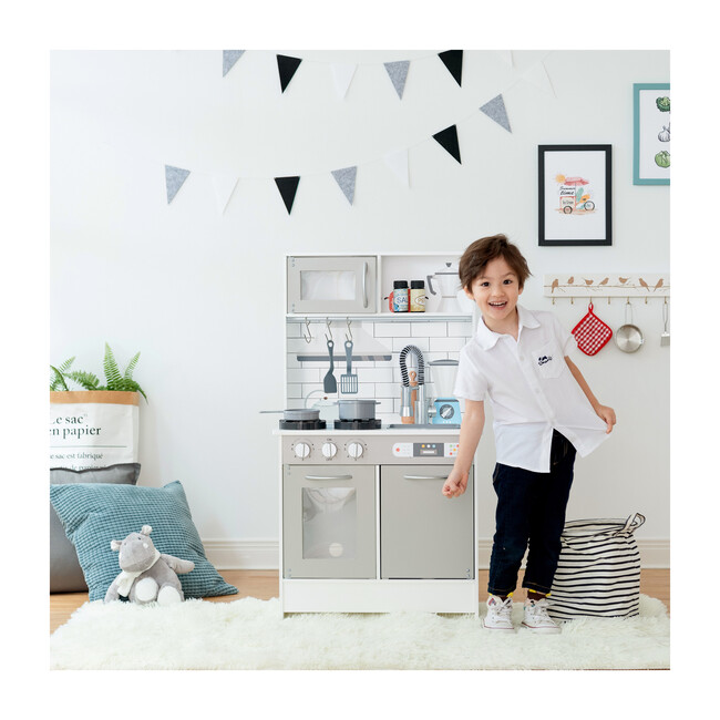 Little Chef Valencia Classic Play Kitchen, Grey