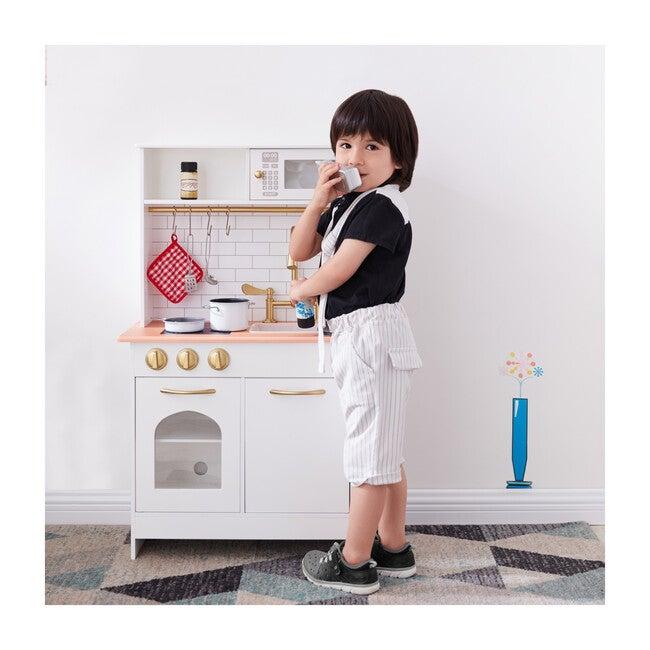 Little Chef Boston Modern Play Kitchen, White/Wood