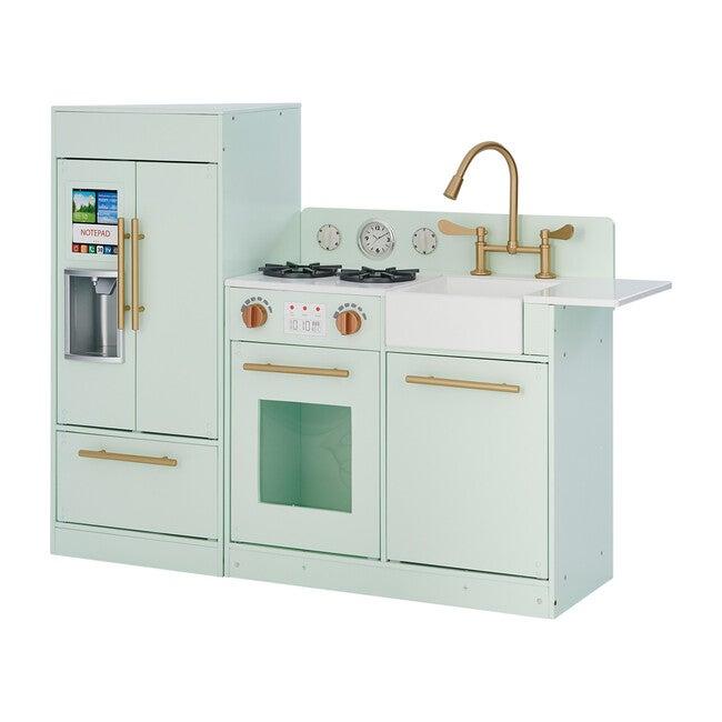 Little Chef Chelsea Modern Play Kitchen, Mint/Gold