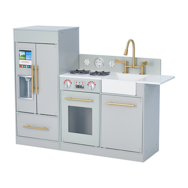 Little Chef Chelsea Modern Play Kitchen, Silver - Play Kitchens - 1