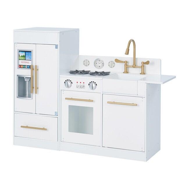 Little Chef Chelsea Modern Play Kitchen, White/Gold