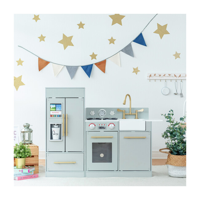 Little Chef Chelsea Modern Play Kitchen, Silver