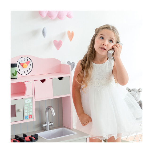 Little Chef Florence Classic Play Kitchen, Pink/Grey