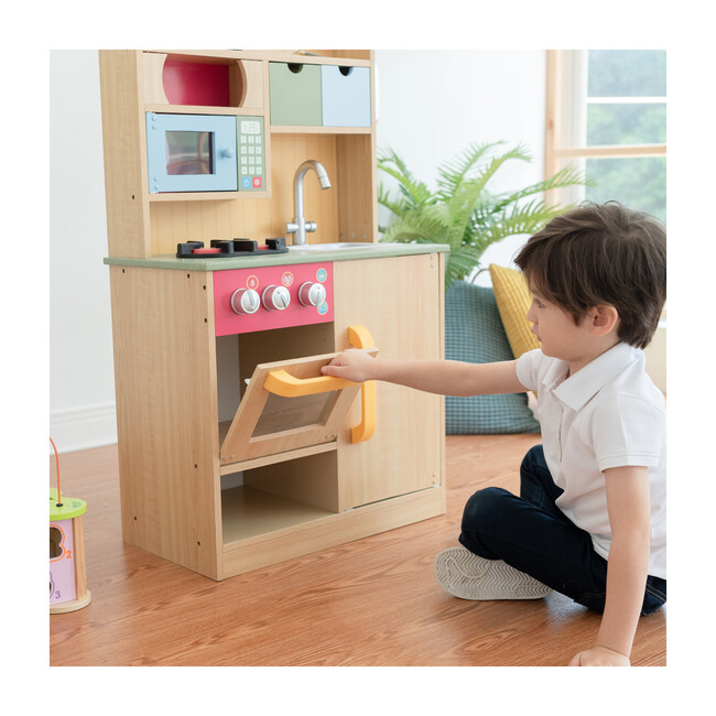 Little Chef Florence Classic Play Kitchen, Wood Grain