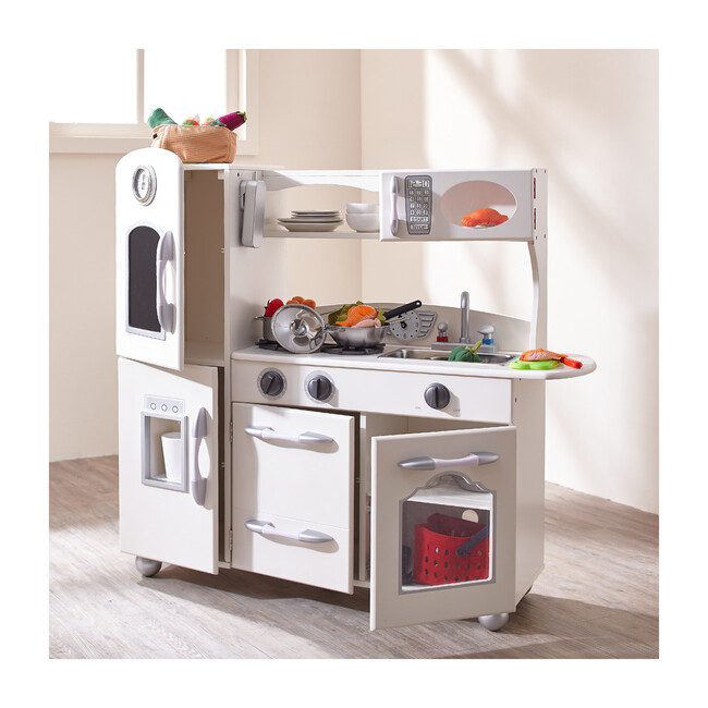 Little Chef Fairfield Retro Play Kitchen, White