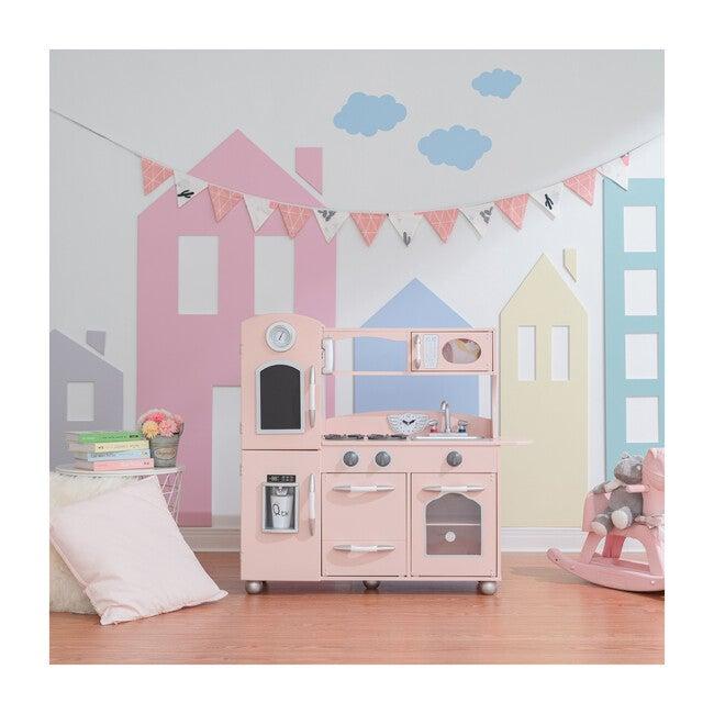Little Chef Fairfield Retro Play Kitchen, Pink