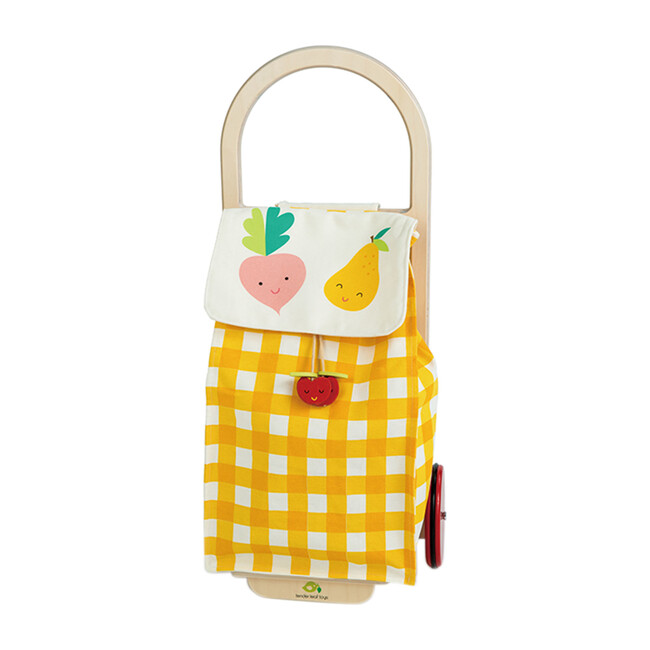 Pull Along Shopping Trolley, Yellow - Role Play Toys - 0